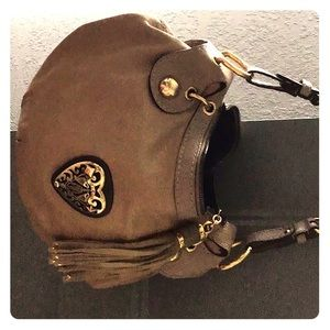 Authentic Gucci leather , Gold Heart Babouska bag